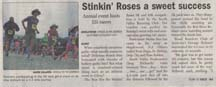 Scan of an article in the Gilroy Dispatch by writer Angela Young