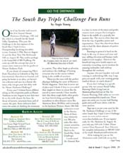 "July 2006 ""Go The Distance"" column by writer Angie Young"