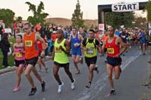 The start of the Morgan Hill Marathon, photo by Alheli Curry