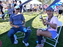 Marcia Ribiero with her husband Carlos at the Morgan Hill Marathon