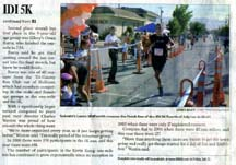 Scan of article in the Morgan Hill Times
