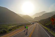 Photo of the course of the Big Sur Marathon by Alheli Curry