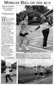 Scan of a front page article by writer Angela Young
