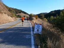 The halfway point of the Morgan Hill Marathon by Angela Young