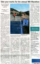 Scan of an article by writer Angela Young in the Morgan Hill Times