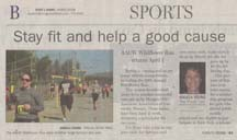 Scan of Wildflower Run article by writer Angela Young