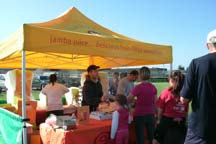Jamba Juice booth, photo by Angela Young