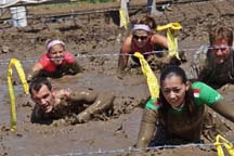 The mud pit of the Ranch Romp Mud Run, photo by Alheli Curry