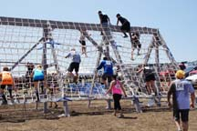 The Cargo Climb of the Ranch Romp Mud Run, Photo by Alheli Curry