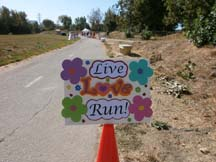 Photo of an aid station in the NorCal Marathon and Half by Angela Young