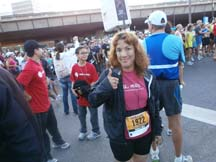 Photo fo writer Angela Young at the NorCal Marathon and Half