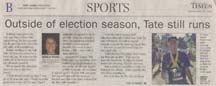 Scan of newspaper article by writer Angela Young