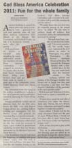 Scan of article in the Morgan Hill times by writer Angela Young