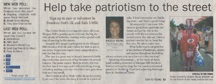 Scan of an article in the Morgan Hill Times by writer Angela Young