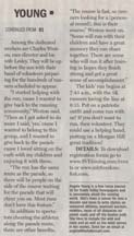Part 2 of an article in the Morgan Hill Times by writer Angela Young