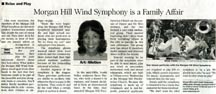 Scan of an article in the Morgan Hill Times by writer Angie Young
