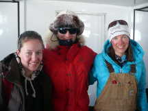 The top female winners in the Antartic Ice Marathon
