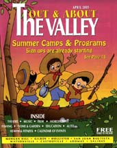 Cover of April 2005 issue of Out and About The Valley magazine