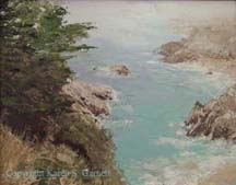 "scna of painting ""Big Sur"" by artist Karen Garnett"