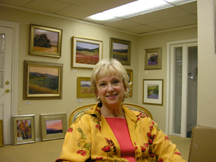 CJ Myers in her gallery