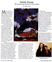 Scan of writer Angie Young's July 2005 Artistic License column