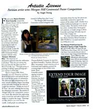 Scan of the March 2006 Artistic Licence column by writer Angie Young