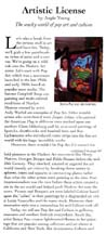 Scan of page 1 of the article by Angie Young