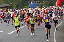 Photo of runners in the Big Sur marathon by photographer Alheli Curry