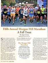 Morgan Hill Marathon article by Angela Young, page 1