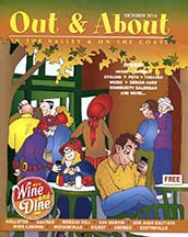 Cover of Out & About Magazine with article by Angela Young
