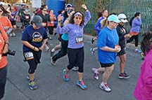 Runners start the 5K at the Morgan Hill Marathon